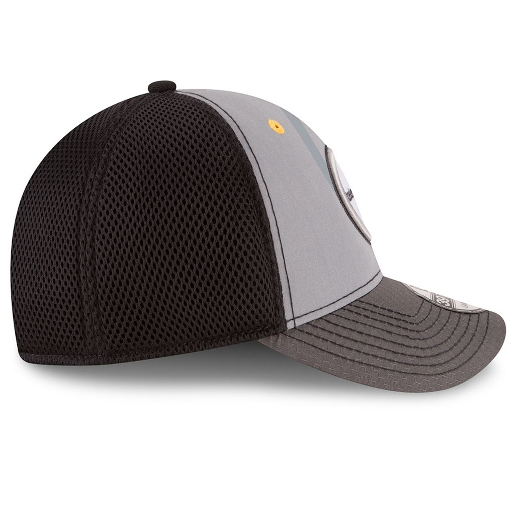 Adult New Era Pittsburgh Steelers 39THIRTY Flashed Front Neo Flex-Fit Cap