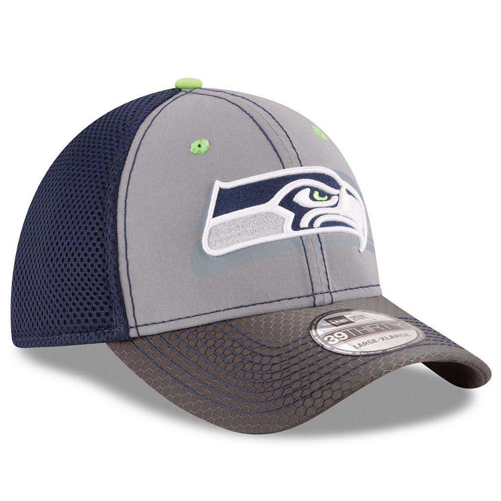 Adult New Era Seattle Seahawks 39THIRTY Flashed Front Neo Flex-Fit Cap