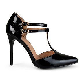 Journee Collection Tru Women's ... T-Strap High Heels Ei4cw
