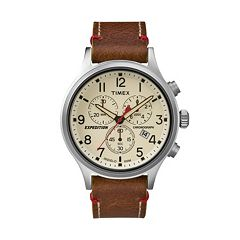 Timex Men's Expedition Scout Leather Chronograph Watch