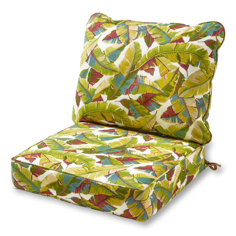 Greendale Home Fashions Deep Seat Patio Chair Cushion 2 Piece Set