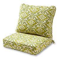 Greendale Home Fashions Deep Seat Patio Chair Cushion 2 pc Set