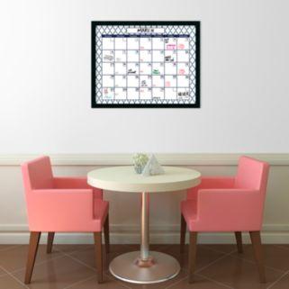 Amanti Art Mezzanotte Dry Erase Monthly Calendar Wall Decor