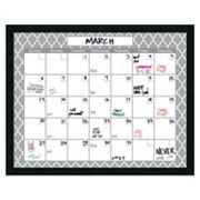 Amanti Art Mezzanotte Dry Erase Monthly Calendar Wall Decor