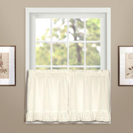 United Curtain Co. Vienna Eyelet Tier Curtain Pair