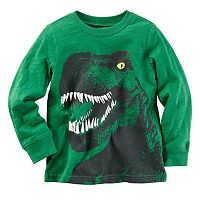 Baby Boy Carter's Green Long Sleeve Dinosaur Graphic Tee