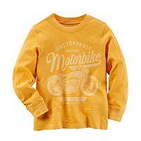 Baby Boy Carter's Motorbike Graphic Yellow Long Sleeve Tee