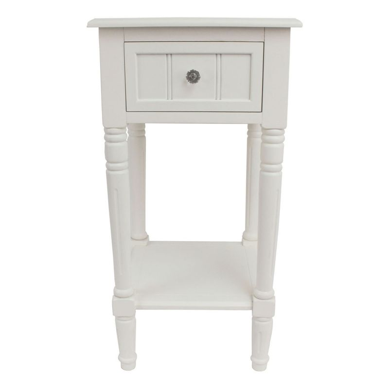 Decor Therapy Square End Table, White