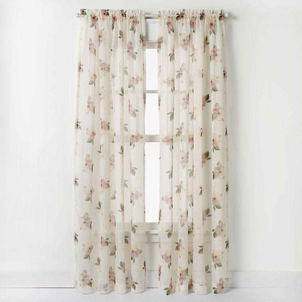 CHF Waterlilly Scroll Window Curtain