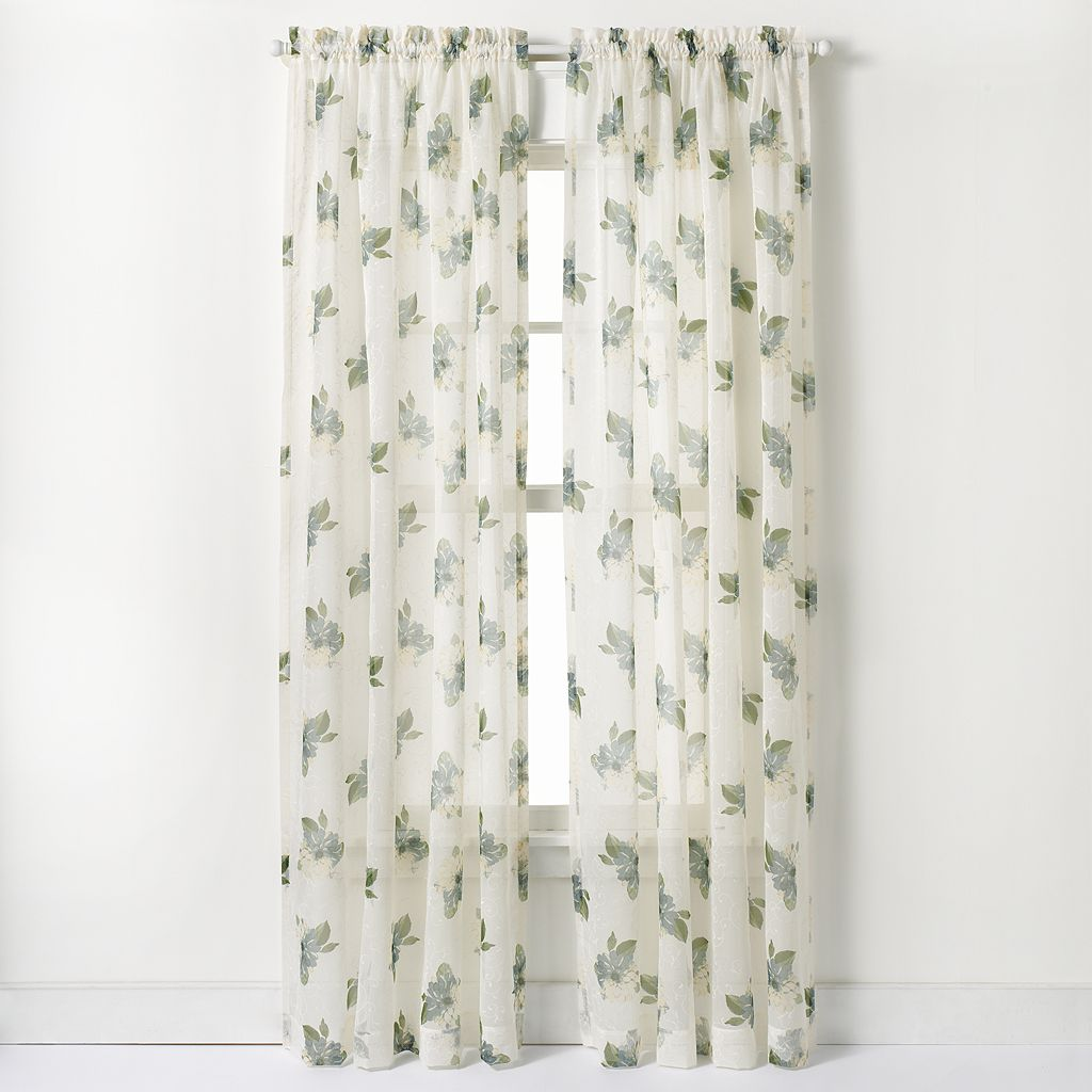 CHF Waterlilly Scroll Window Curtain