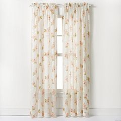 CHF 1-Panel Waterlilly Scroll Window Curtain