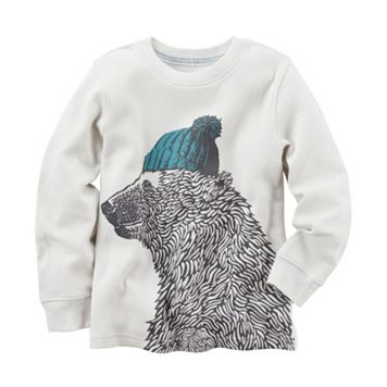 Baby Boy Carter's Polar Bear Thermal Long Sleeve Tee