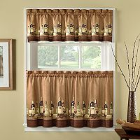 CHF Wines 3 pc Kitchen Curtain Set