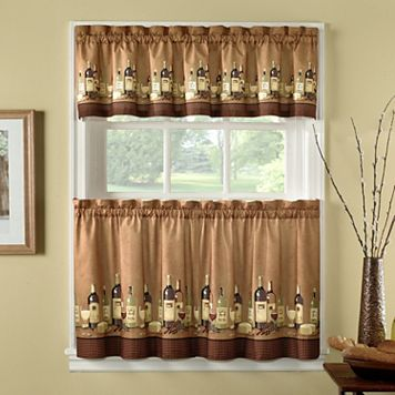 CHF Wines 3-pc. Kitchen Curtain Set