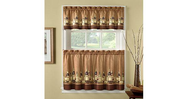 Chf wines 3 pc kitchen curtain set - Kohls kitchen curtains ...