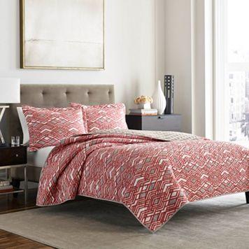 Adrienne Vittadini Argent 3-piece Quilt Set
