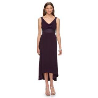 Women's Chaps Drapeneck High-Low Evening Gown