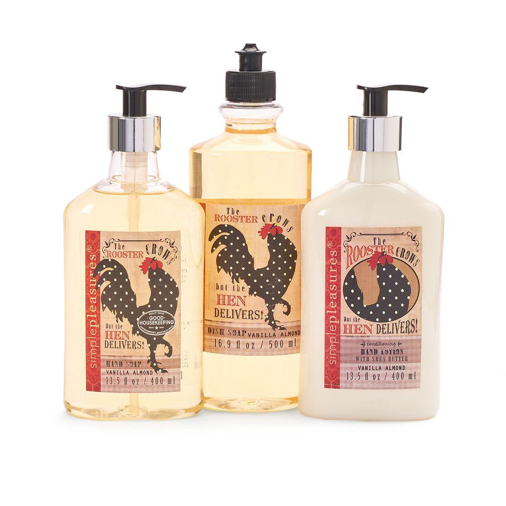 pleasures vanilla almond kitchen caddy gift set kitchen soap