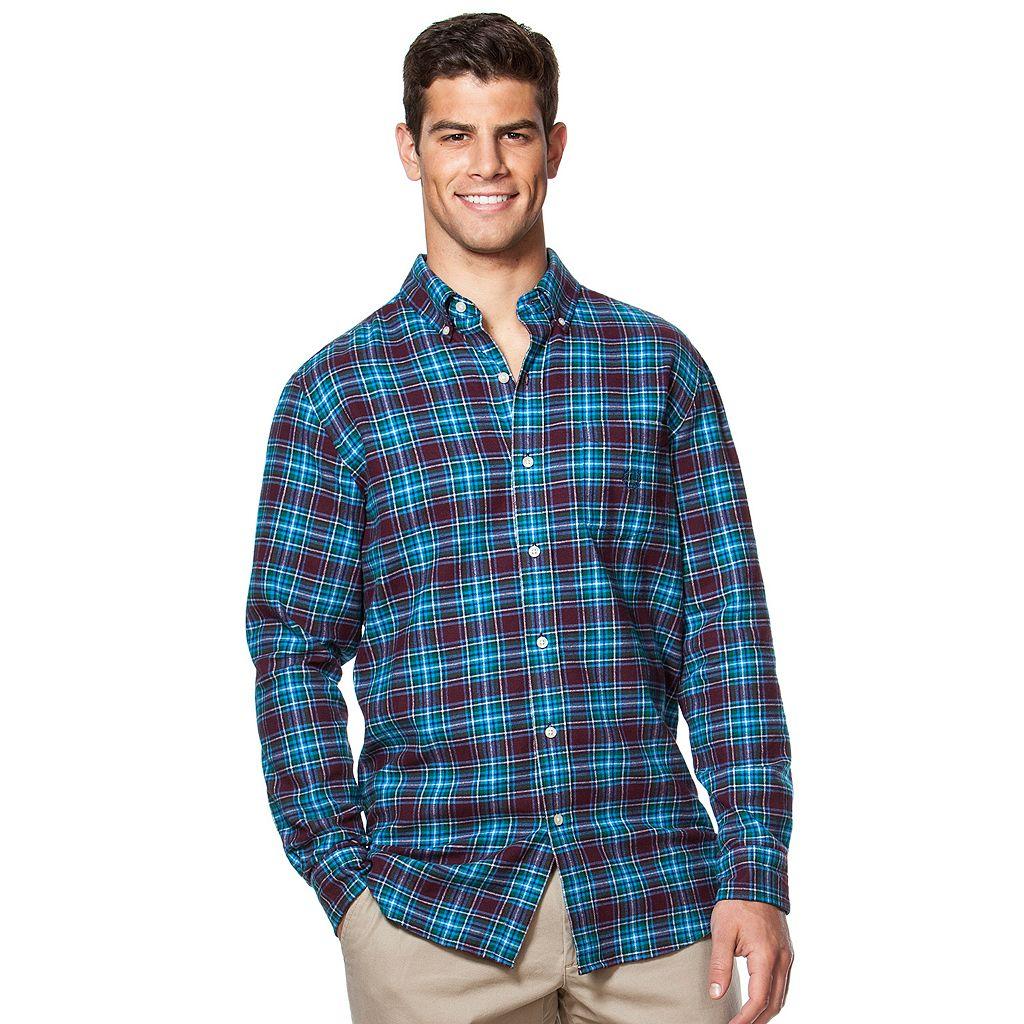 Men's Chaps Flannel Classic-Fit Open Check Button-Down Shirt