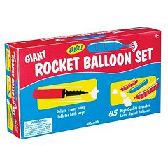 Toysmith Giant Rocket Balloon Set With Pump