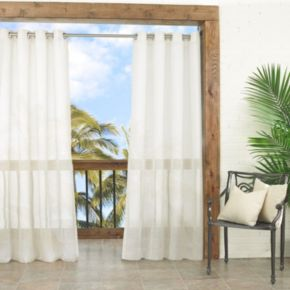 Parasol 1-Panel Summerland Key Sheer Indoor Outdoor Curtain