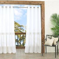 Parasol Summerland Key Sheer Indoor Outdoor Curtain