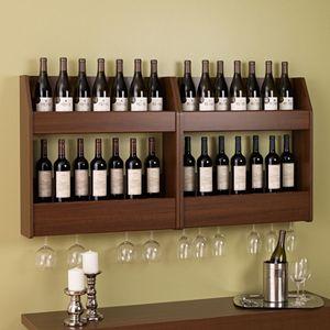 Prepac 2-Tier Floating Wine and Liquor Rack