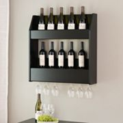 Prepac 2 tier Floating Wine and Liquor Rack