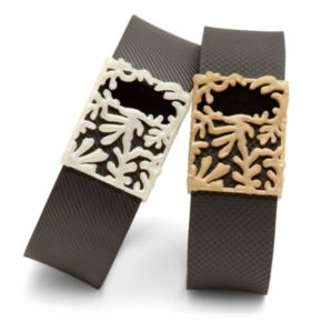 Bytten for Fitbit Charge & Charge HR Matisse (2-Pack, Pearl White & Satin Gold Plastic)