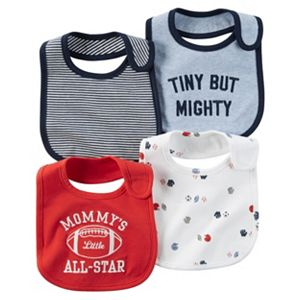 Baby Boy Carter's 4-pk. Sporty & Striped Bibs