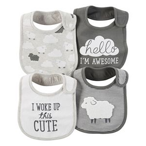 Baby Carter's Lamb & Striped 4-pk. Bibs