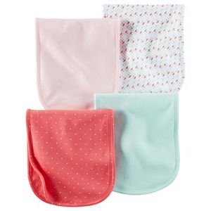 Baby Girl Carter's 4-pk. Heart & Petal Burp Cloths
