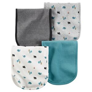 Baby Boy Carter's 4-pk. Woodland & Striped Burp Cloths