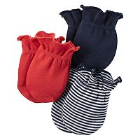 Baby Boy Carter's 3-pk. Striped & Solid Baby Mitts