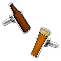 Beer Bottle & Glass Cuff Links