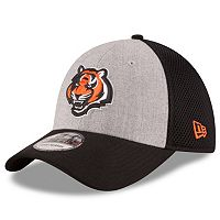 Adult New Era Cincinnati Bengals 39THIRTY Gray Heathered Neo Flex-Fit Cap