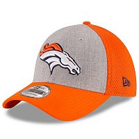Adult New Era Denver Broncos 39THIRTY Gray Heathered Neo Flex-Fit Cap