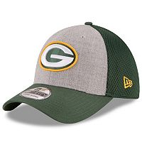 Adult New Era Green Bay Packers 39THIRTY Gray Heathered Neo Flex-Fit Cap