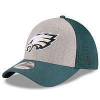Adult New Era Philadelphia Eagles 39THIRTY Gray Heathered Neo Flex-Fit Cap