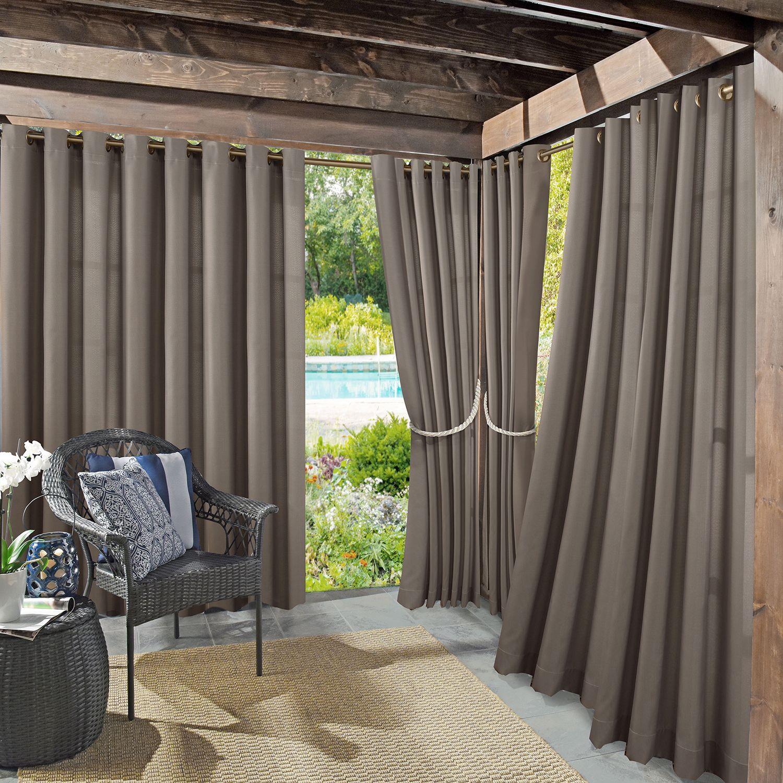 Sun Zero 1 Panel UV Blocking Reed Indoor / Outdoor Woven Curtain