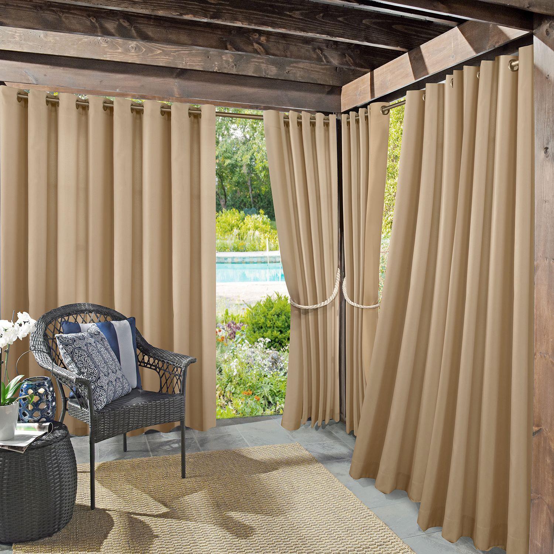 Bon Sun Zero 1 Panel UV Blocking Reed Indoor / Outdoor Woven Curtain