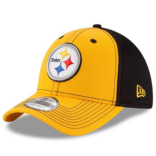 Youth New Era Pittsburgh Steelers 39THIRTY Neo Flex-Fit Cap 875705dfd