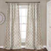 Lush Decor 2-pack Geo Trellis Window Curtains - 54'' x 84''