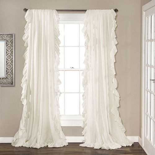 Lush Decor 2 Pack Reyna Cascading Window Curtains