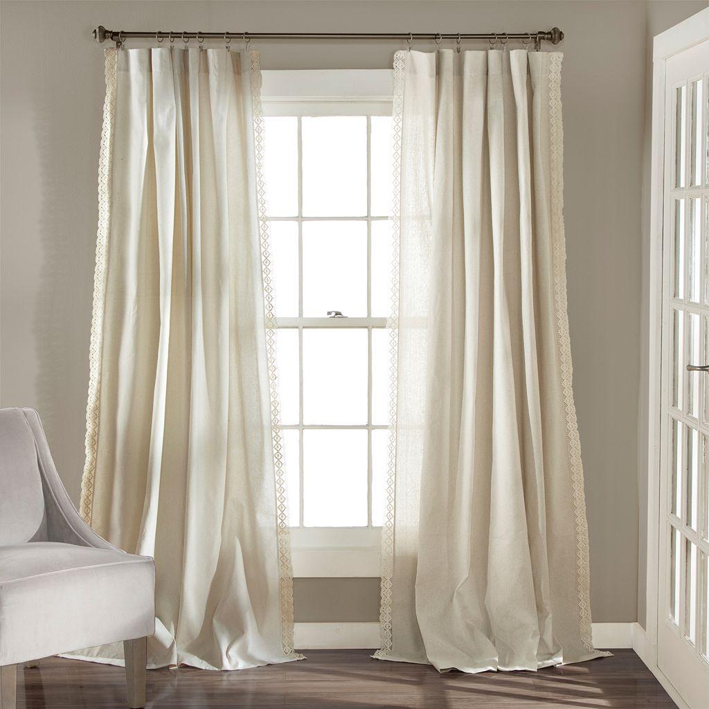 Lush Decor 2-pack Rosalie Lace Chic Curtains - 54'' x 84''