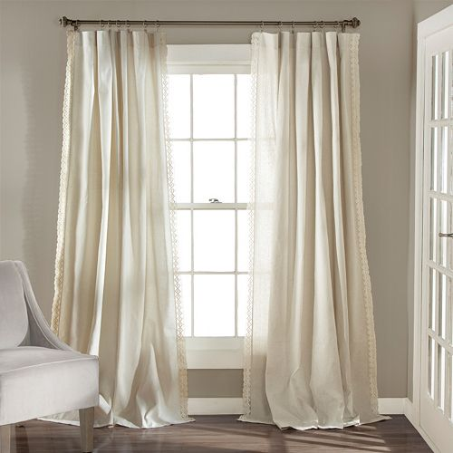 Lush Decor 2-pack Rosalie Lace Chic Window Curtains - 54'' x 84''