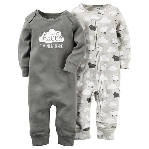 Baby Carter's 2-pk. Lamb & Graphic Coveralls