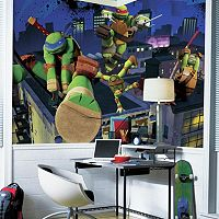 Teenage Mutant Ninja Turtles Cityscape Removable Wallpaper Mural