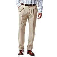 Men's Haggar eCLo Stria Straight-Fit Pleated Dress Pants