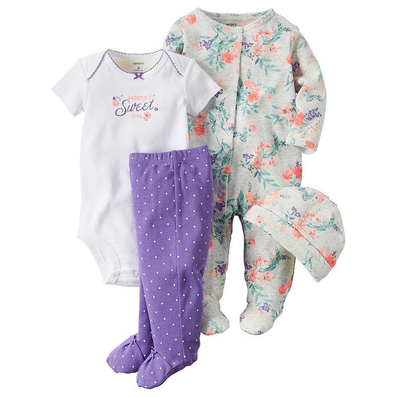 Carter's® Baby Girls' 4-Piece Daddy's Sweet Girl Set